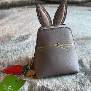 NWT Kate Spade rabbit coin purse hop to it